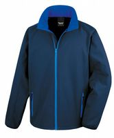 NAVY WITH ROYAL BLUE RESULT SOFT-SHELL JACKET